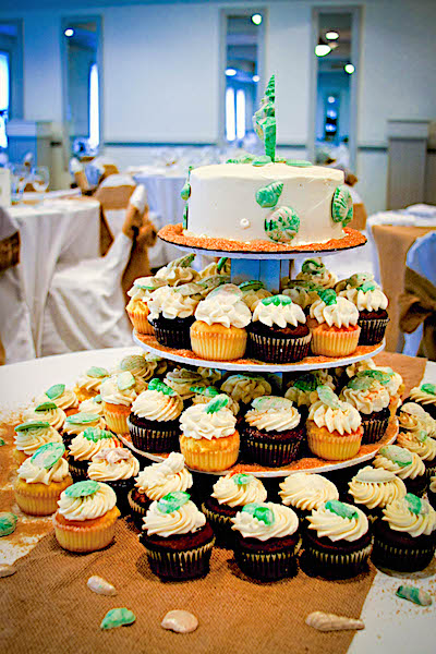 We made a wedding couple very happy with this cake at our Outer Banks Wedding Venue, This couple got married at a beach wedding at the sea ranch resort, Located in Kill Devil hills, we have a full service wedding venue at the sea ranch