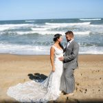 Matt and Jaclyn get a beach wedding on the outer banks at the sea ranch resort, the sea ranch resort was proud to host matt and jaclyn as they tied the knot in our wedding venue on the OBX, matt and jaclyn share their love by our oceanfront accommodations for wedding parties