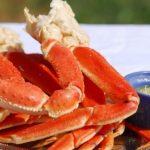 Alaskan Crab legs at beachside bistro outer banks